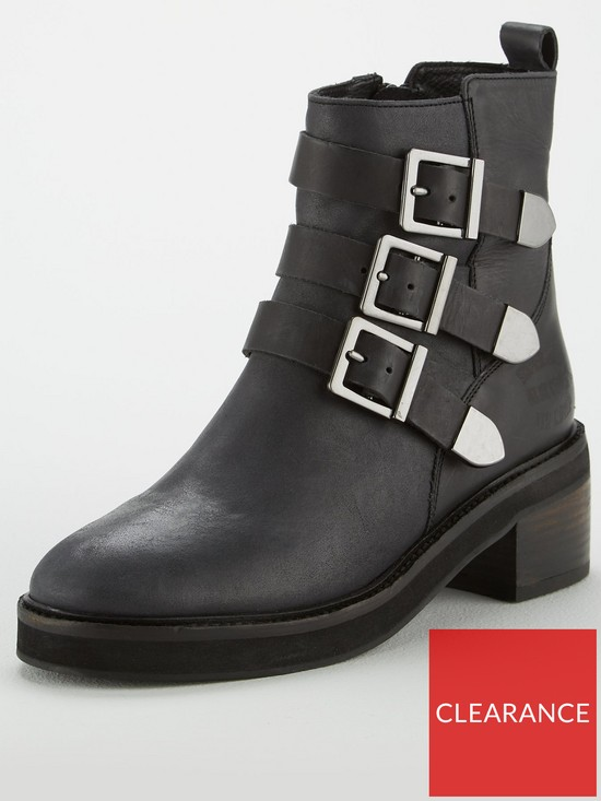 e0333d0816a7b Superdry Cheryl Military Ankle Boot - Black | very.co.uk