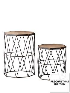 hudson-living-marshal-set-of-2-metal-and-solid-wood-side-tables