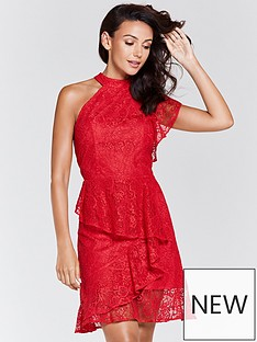 michelle-keegan-lace-one-shoulder-asymmetric-dress-rednbsp