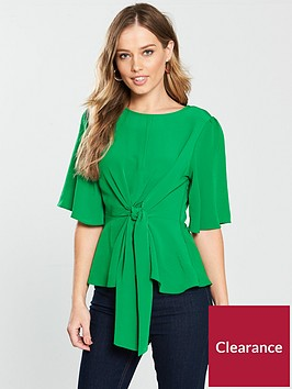 v-by-very-knot-front-top-green
