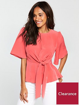 v-by-very-knot-front-top-coral
