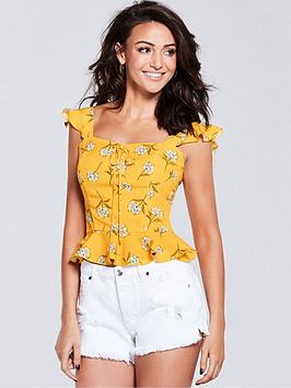 michelle-keegan-printed-blouse