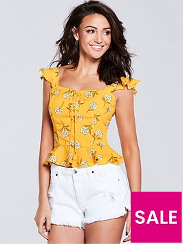 michelle-keegan-printed-blouse