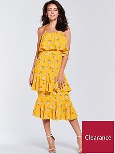 michelle-keegan-printed-midi-dress