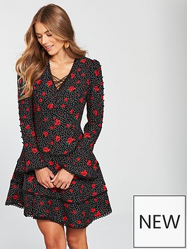 v-by-very-button-detail-premium-tiered-dress-printed