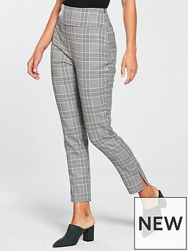 michelle-keegan-slim-leg-trouser-check