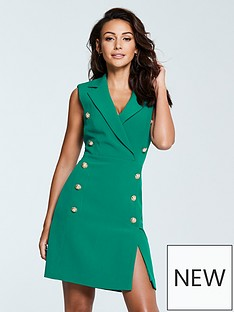 michelle-keegan-tux-dress-green