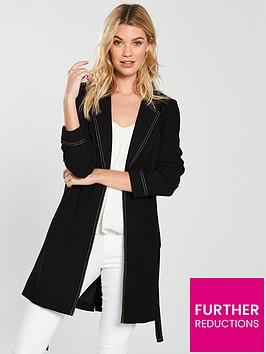 v-by-very-longline-contrast-stitch-jacket-black