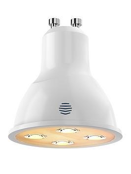Hive Active Light Dimmable Warm White Wireless Lighting LED Light Bulb, 4.8W GU10 Bulb, Single