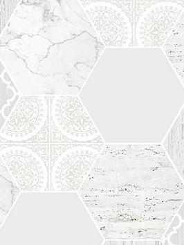 contour-hexagonal-marble-tile-wallpaper