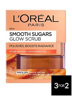 loreal-paris-l039oreal-paris-smooth-sugar-glow-grapeseed-face-and-lip-scrub-50ml