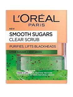 loreal-paris-smooth-sugar-clear-kiwi-face-and-lip-scrub-50ml