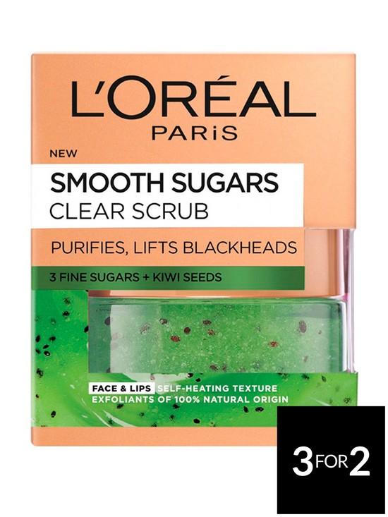 21779da8ae L Oreal Paris Smooth Sugar Clear Kiwi Face And Lip Scrub 50ml