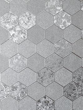 arthouse-foil-honeycomb-wallpaper