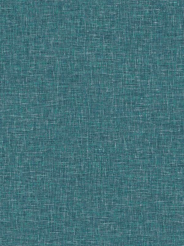 Linen Texture Teal Wallpaper