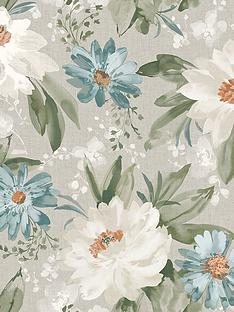 arthouse-painted-dahlia-wallpaper-in-green