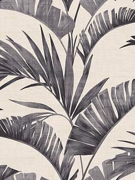 arthouse-banana-palm-charcoal-wallpaper