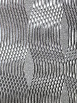 arthouse-foil-silver-wave-wallpaper