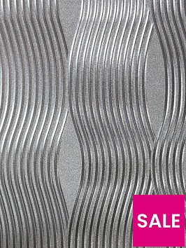 arthouse-foil-silver-wave-wallpaper