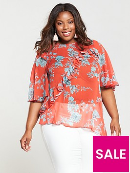 v-by-very-curve-asymmetric-printed-blouse-red
