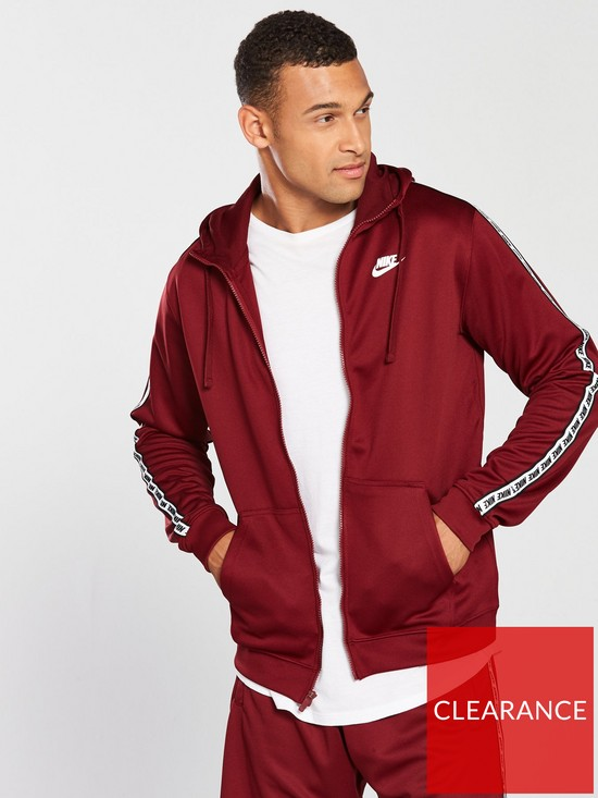 33919f72a Nike Sportswear Repeat Full Zip Poly Hoodie | very.co.uk