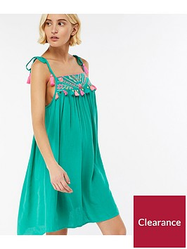 accessorize-aztec-embroidered-dress-green