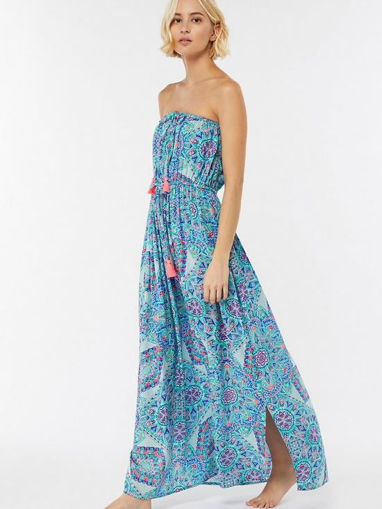 d7b50b02d0d4e Accessorize Mandala Print Maxi Dress - Blue | very.co.uk
