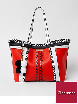 river-island-river-island-contrast-panel-beach-shopper--red