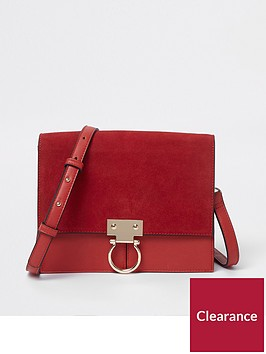 river-island-suede-crossbody-bag--red
