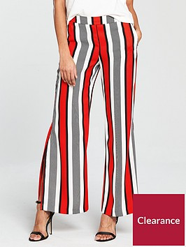 river-island-river-island-wide-leg-soft-trousers--red-stripe