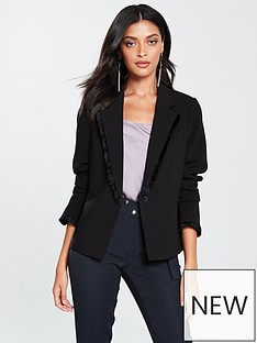 v-by-very-fringe-jacket-black