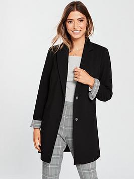 v-by-very-longline-check-cuff-jacket-black
