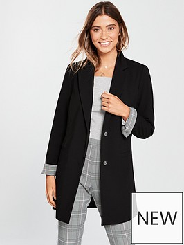 v-by-very-longline-check-cuff-jacket-black