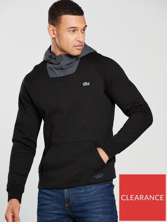 f939b71d1ea8 Lacoste Sport Fleece Overhead Hoody