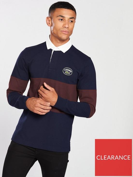 22a79a2ff89f Lacoste Sportswear Stripe Rugby Shirt