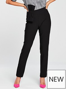 v-by-very-bow-detail-slim-leg-trouser-black