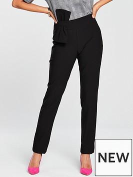 v-by-very-bow-detail-slim-leg-trouser-black