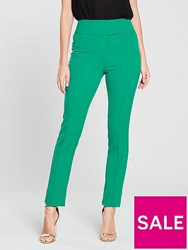 v-by-very-high-waisted-slim-leg-trouser-green