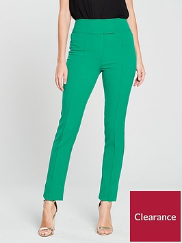 v-by-very-high-waisted-slim-leg-trouser-green
