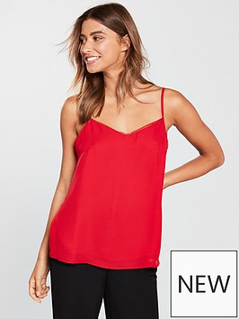 v-by-very-lace-trim-cami-deep-red