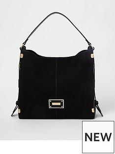 river-island-river-island-side-detail-slouch-bag--black