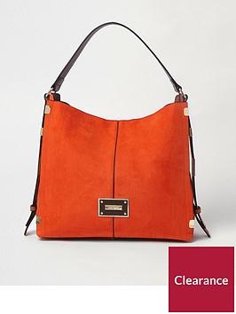 river-island-river-island-side-detail-slouch-bag--orange