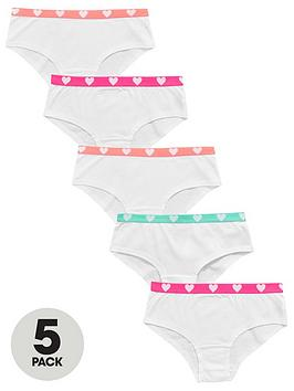 v-by-very-girls-5-pack-neon-heart-shorties