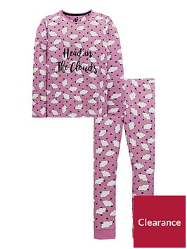 v-by-very-girls-head-in-the-clouds-pyjama-set