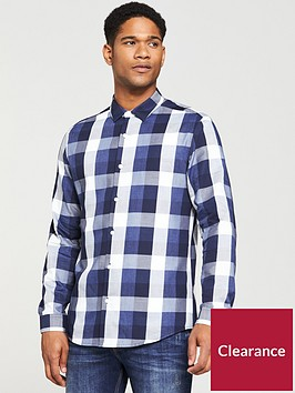 v-by-very-mens-regular-fit-long-sleeved-buffalo-check-shirt-bluegrey