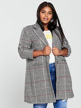 V By Very Curve Check Coat