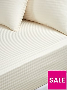 hotel-collection-luxury-300-thread-count-soft-touch-sateen-stripe-28-cm-deep-fitted-sheet