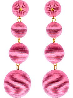 kenneth-jay-lane-thread-wrapped-ball-post-earrings-pink