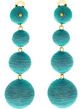 kenneth-jay-lane-thread-wrapped-ball-post-earrings-blue