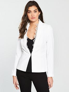 miss-selfridge-lace-fitted-suit-jacket